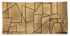 Geometric Abstraction IIi Toned Beach Towel