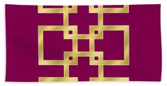 Geometric Transparent Beach Sheet by Chuck Staley