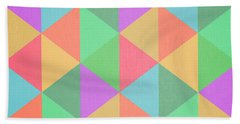 Geometric Triangles Abstract Square Beach Towel