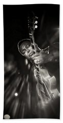 George Benson Black And White Beach Towel