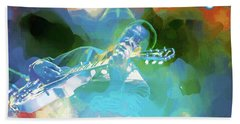 George Benson, Watercolor Beach Towel