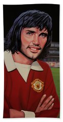 George Best Painting Beach Towel by Paul Meijering