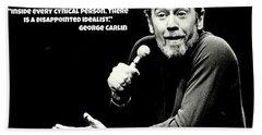 George Carlin Art  Beach Towel by Pd