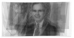 George H. W. Bush Beach Towel by Steve Socha