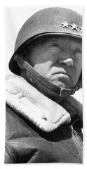 George S. Patton Unknown Date Beach Sheet by David Lee Guss