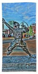 George Sisler Statue # 2 - Busch Stadium Beach Towel