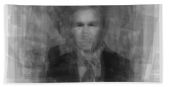 George W. Bush Beach Sheet by Steve Socha