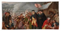 George Washington At Valley Forge Beach Towel