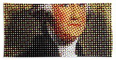 George Washington In Dots  Beach Sheet by Paulo Guimaraes