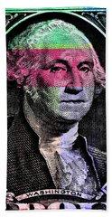 George Washington Pop Art Beach Towel