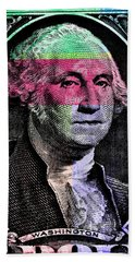George Washington Pop Art Beach Sheet