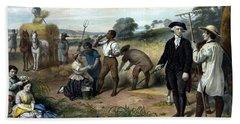 George Washington The Farmer Beach Towel