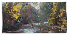Georgetown Fall Colors Beach Sheet by Ylli Haruni