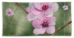 Georgia Peach Blossoms Beach Sheet