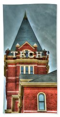 Georgia Tech Tower 8 Georgia Institute Of Technology Art Beach Towel