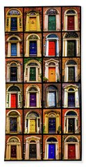 Georgian Doors Of Dublin 3 Beach Towel by Lexa Harpell