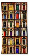 Georgian Doors Of Dublin 3 Beach Sheet by Lexa Harpell