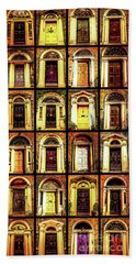 Georgian Doors Of Dublin 4 Beach Towel by Lexa Harpell