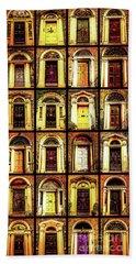 Georgian Doors Of Dublin 4 Beach Sheet by Lexa Harpell