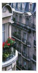 Geraniums - Paris Beach Towel