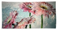 Gerbera Daisies With A Splash Beach Towel