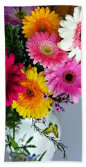 Gerbera Daisy Bouquet Beach Sheet by Marilyn Hunt