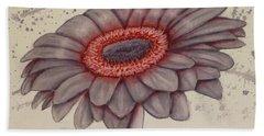Gerbera Flower Gone Grey Beach Sheet by Kelly Mills