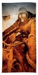 German Biker Beach Towel by Michael Cleere