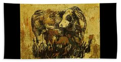 German Fleckvieh Bull 21 Beach Towel by Larry Campbell