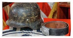 German Helmet Beach Sheet