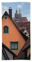 German Rooftops Beach Towel