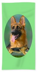 German Shepherd Breed Art Beach Towel