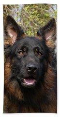 Beach Sheet featuring the photograph German Shepherd Close Up by Sandy Keeton