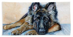 German Shepherd Beach Towel