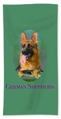 German Shepherd With Name Logo Beach Sheet