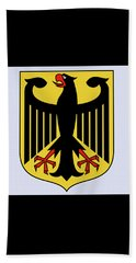 Beach Towel featuring the drawing Germany Coat Of Arms by Movie Poster Prints