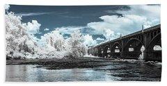 Gervais St. Bridge-infrared Beach Towel