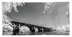 Gervais Street Bridge In Ir1 Beach Towel