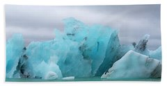 Get Inspired Glacier Lagoon Beach Towel