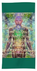 Getting Super Chart For Affirmation Visualization V3u Beach Towel