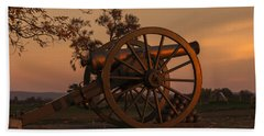 Gettysburg - Cannon With Cannon Balls At Sunrise Beach Sheet
