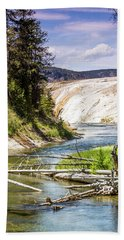 Beach Sheet featuring the photograph Geyser Stream by Dawn Romine