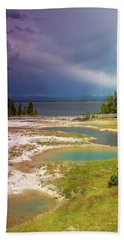 Geysers Pools Beach Towel by Dawn Romine