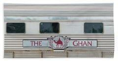 Ghan Train At Alice Springs Beach Towel