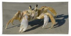 Beach Towel featuring the photograph Ghost Crab by Bradford Martin