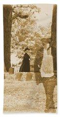 Ghost In The Graveyard Beach Towel