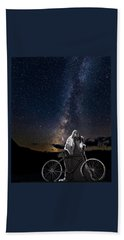 Ghost Rider Under The Milky Way. Beach Towel