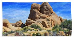 Beach Towel featuring the photograph Ghost Rock - Joshua Tree National Park by Glenn McCarthy Art and Photography
