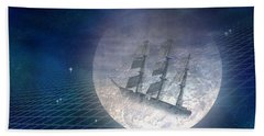 Ghost Ship Beach Towel