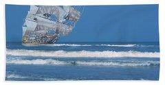 Ghost Ship On The Treasure Coast Beach Towel